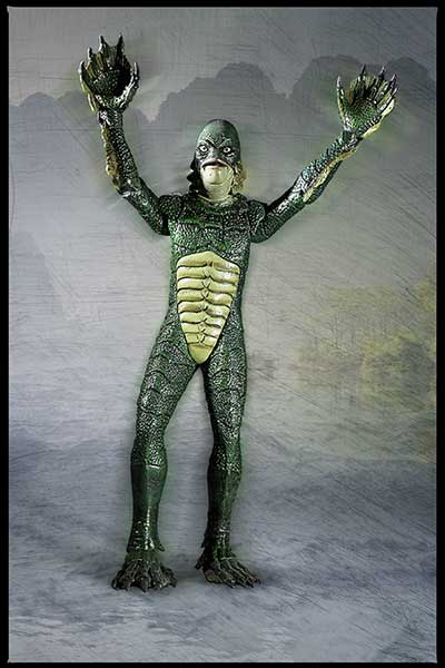 Gill-man arms up