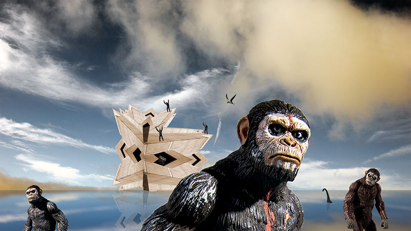 Apes take over what's left of a sinking world