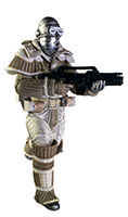 Weyland-Yutani commando points gun