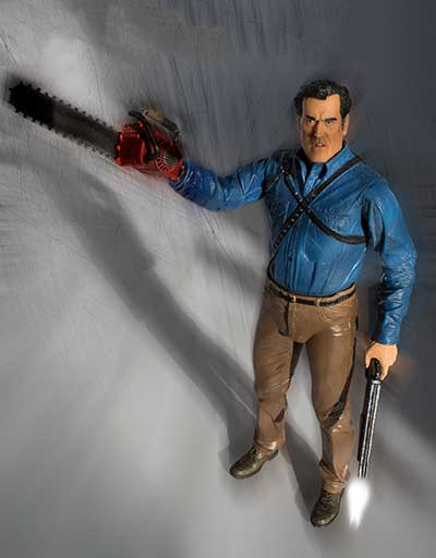Ash figure with chainsaw and shotgun